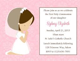 Invitation Cards Free Printable Girls Amazing Sample First Communion Invitation Cards White Background