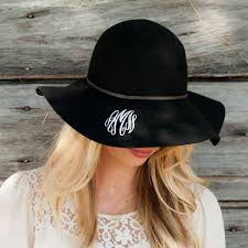 personalized wool floppy hat gifts happen here