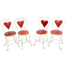 ice cream parlor table and chairs set set of 4 antique ice cream parlor chairs at 1stdibs