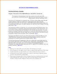 Resume Synopsis Sample by Executive Summary Sample For Resume Free Resume Example And