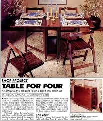 folding table and chairs set plans u2022 woodarchivist