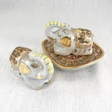 porcelain elephant vintage porcelain elephant salt u0026 pepper shakers indigo collection