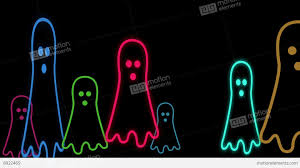 cute halloween background pictures halloween animated background with cute little neon ghost stock