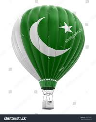 Pakistane Flag Air Balloon Pakistani Flag Clipping Stockillustration
