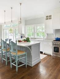 white kitchens with islands 15 gorgeous white kitchens with coloured islands the housie
