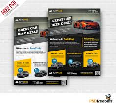 cars rental flyer free psd template download download psd