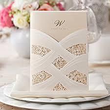 lace wedding invitations wishmade 50pcs ivory laser cut lace wedding invitation
