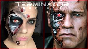terminator inspired halloween makeup tutorial mommamakeup