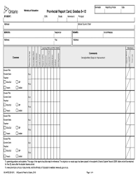 blank report card template high school report cards fill printable fillable