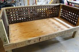 awesome wooden daybed plans and diy outdoor daybed fpudining