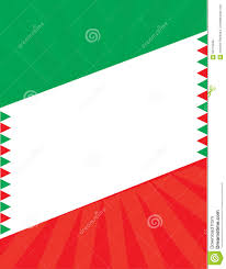 Mexixan Flag Mexican Flag Border Background Template Illustration 63110946