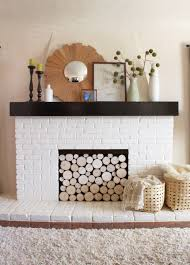 Fireplace Cover Up Pinterest Challenge Faux Stacked Log Fireplace Facade Pepper