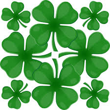 clipart of four leaf clover leaves