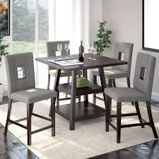 World Market Dining Room Table by Furniture Of America Gizelle 5 Piece Counter Height Table Set