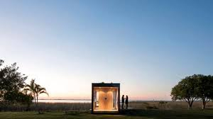 mapa architects u0027 tiny minimod house is a led lit prefab home for