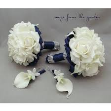 Blue Wedding Flowers Navy Blue Bridal Bouquet Mint Green Wedding Flowers Polyvore