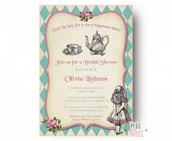 mad hatter baby shower invitations