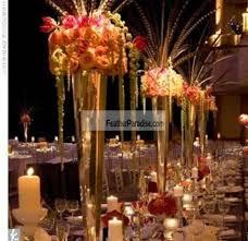 wedding centerpieces vases polished metal trumpet vases wedding centerpieces vases gold