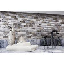 shop elida ceramica melted glacier blue gray glass mosaic subway