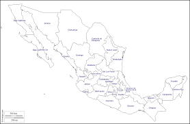 Blank Map California by Mexico Free Map Free Blank Map Free Outline Map Free Base Map