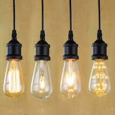 Light Bulbs For Pendant Lights E27 Light Socket I Shape Vintage Retro Edison Bulb Pendant Lamp
