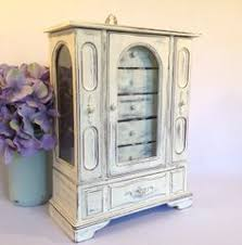 Shabby Chic Jewelry Armoire by Gorgeous Jewelry Armoire Rustic Jewelry Holder Wooden Jewelry