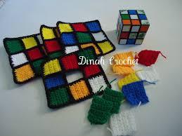 dinah u0027s crochet stuff crochet rubik u0027s cube tissue box cover