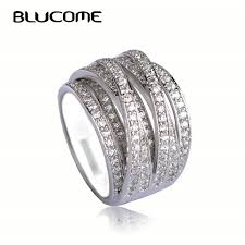 copper engagement ring aliexpress buy blucome new arrival brand zircon copper rings