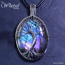 handmade necklace pendants images Custom wire wrap tree of life sterling silver labradorite pendant jpg