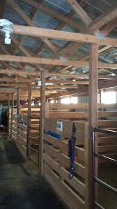 homemade box stalls made with 2 x 8 u0027s and 4 x 4 u0027s horsing