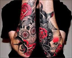 american traditional skull tattoos for men tattooic