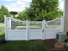 Fence Panels With Trellis Vinyl Fence Custom Specialties Colonial Fence Co Norfolk Ma