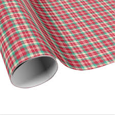 christmas plaid wrapping paper bright vintage christmas plaid wrapping paper zazzle