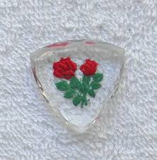 glass roses w german faceted glass roses intaglio clear glass cameo s40