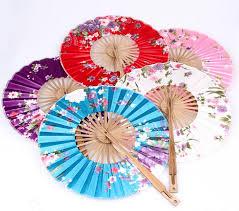 japanese folding fan the windmill japanese folding circular fan silk cloth