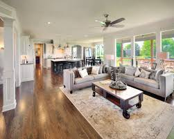 Craftsman Home Interior Design Open Concept Living By Bickimer Homes Interior Design Couches
