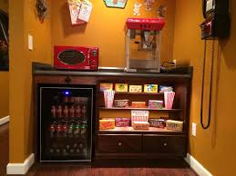 How To Decorate Home Theater Room Our Home Theater U0027s Concession Stand Home Theater Pinterest