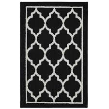 mohawk home chai tufted nylon rug black and cream walmart com
