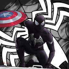 mcu black suit spider man gscratcher deviantart