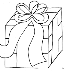 Christmas Gift Box Coloring Page Coloring Download Box Coloring Pages