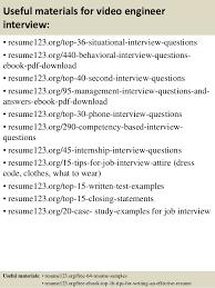 Video Resume Samples by Top 8 Video Engineer Resume Samples