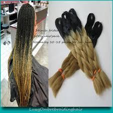 ombre kanekalon braiding hair 10packs 100g pc 24 black golden blonde ombre kanekalon braiding