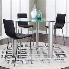 glass counter height table sets 45 triangle glass top counter height dining table and stool set by