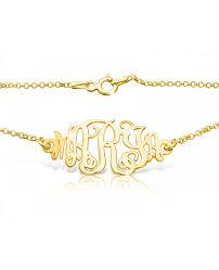 monogram bracelet gold monogram bracelet gold plated monagram bracelet the name necklace