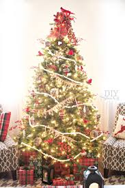 christmas christmas tree ribbon garland decoratingth ideas ways