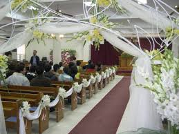 view decorating a church for a wedding decorating ideas