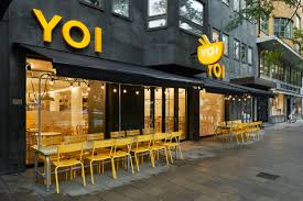 interior design for the fast food restaurant yoi stockholm yoi