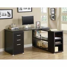 wood l corner desk cappuccino reclaimed wood look