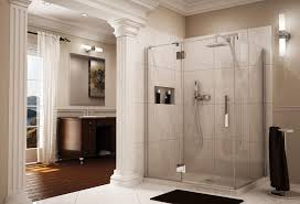 hinged glass shower door pivot shower door fleurco luxury hinged door cleveland columbus
