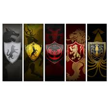 art abstract paintings 5 panel game thrones logo poster